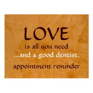 Amor y un buen dentista postal
