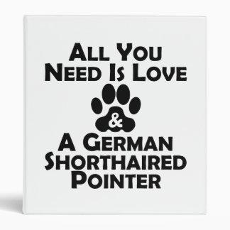 Amor y un indicador de pelo corto alemán