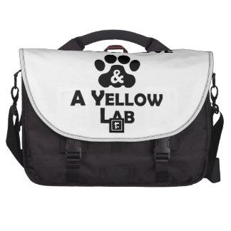 Amor y un laboratorio amarillo bolsas de ordenador