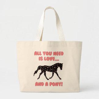 Amor y un potro bolsa tela grande