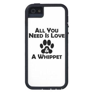 Amor y un Whippet iPhone 5 Case-Mate Coberturas