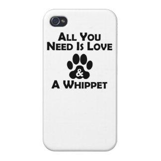 Amor y un Whippet iPhone 4 Fundas