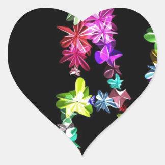 Amor y unidad de la paz pegatina en forma de corazón