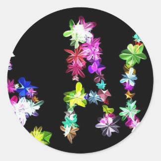 Amor y unidad de la paz pegatina redonda