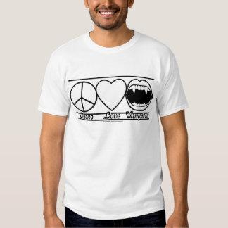 Amor y vampiros de la paz camisas