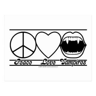Amor y vampiros de la paz postal