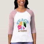 Amor y Veggies de la paz Camisetas