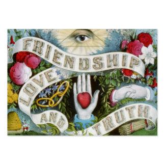 amor y verdad de la amistad tarjetas de visita grandes