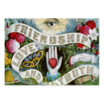 amor y verdad de la amistad tarjetas de visita