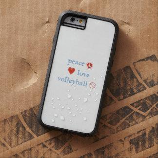Amor y voleibol de la paz funda para  iPhone 6 tough xtreme
