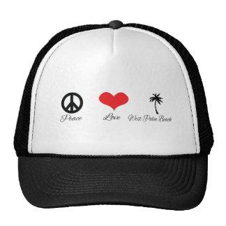 Amor y West Palm Beach de la paz Gorros Bordados
