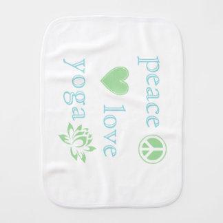 Amor y yoga de la paz paños de bebé