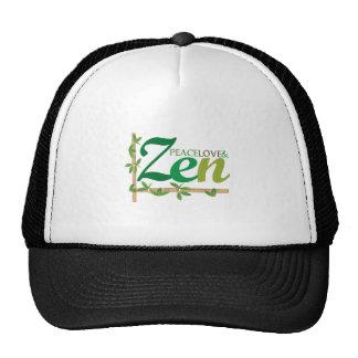 Amor y zen de la paz gorros