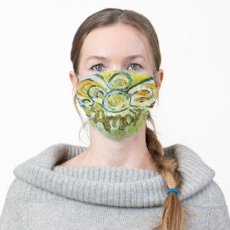 Amor Yellow Guardian Angel Art Custom Face Masks