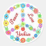 Amor Yorkies de la paz Etiquetas