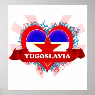 Amor Yugoslavia del vintage I Póster