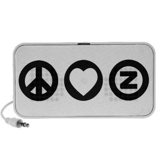 Amor Zazzle de la paz Altavoz De Viaje