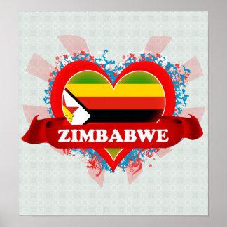 Amor Zimbabwe del vintage I Posters