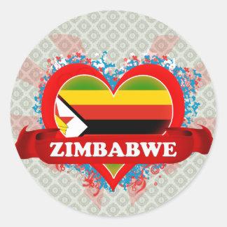 Amor Zimbabwe del vintage I Etiquetas