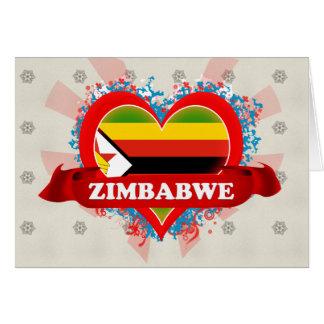 Amor Zimbabwe del vintage I Tarjetón