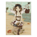 Amora - postal de hadas del pirata