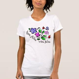 Amore Felice Vita Felice Camiseta