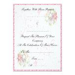 Amore floral - invitación del boda invitación 12,7 x 17,8 cm
