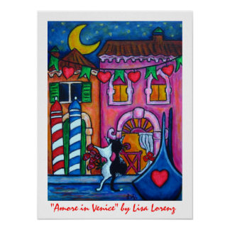 Amore in Venice Painting Print