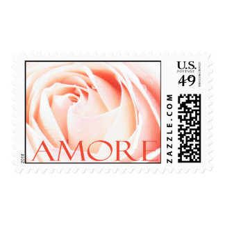 Amore - Italian Love pink rose Stamps