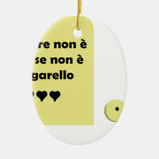 amore litigarello ceramic ornament