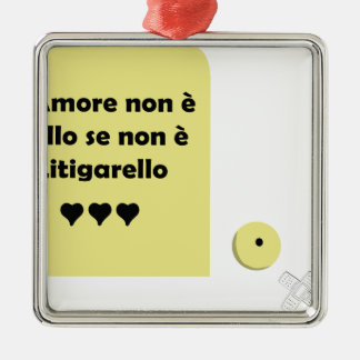 amore litigarello metal ornament