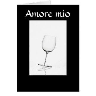 AMORE MIO - LOVE CARD ITALIAN STYLE