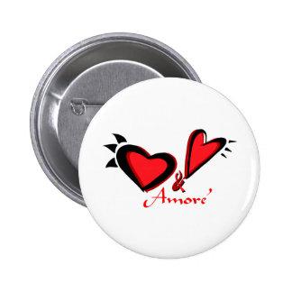 Amore Pinback Button