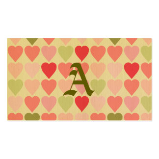 amore, rojo retro, multi, vintage, corazón del tarjeta de visita