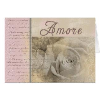 Amore romántico felicitación