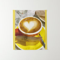 Amoreccino I heart Italian Coffee Tapestry