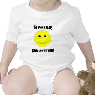 Amores de dios de la sonrisa usted camiseta del