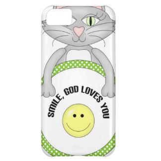 Amores de dios de la sonrisa usted gato funda para iPhone 5C