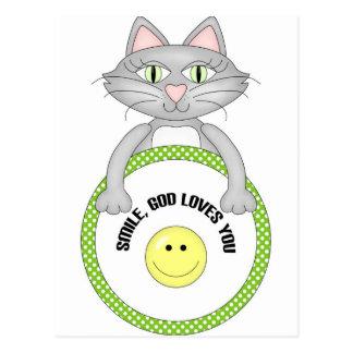 Amores de dios de la sonrisa usted gato tarjetas postales