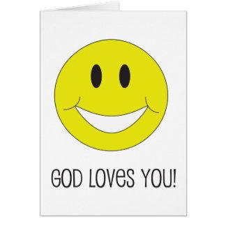 Amores de dios de la sonrisa usted tarjeta de feli