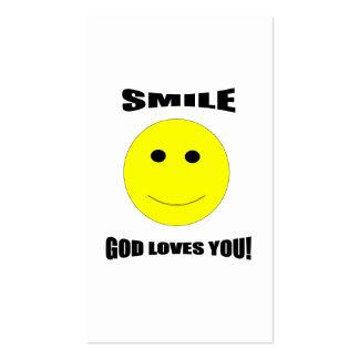Amores de dios de la sonrisa usted tarjeta de tarjetas de visita