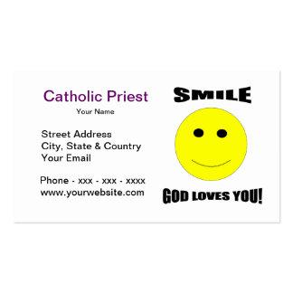 Amores de dios de la sonrisa usted tarjeta de visi tarjetas de visita