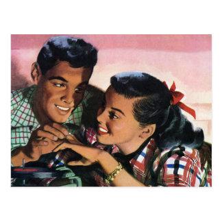 Amores de High School secundaria del vintage, Postales