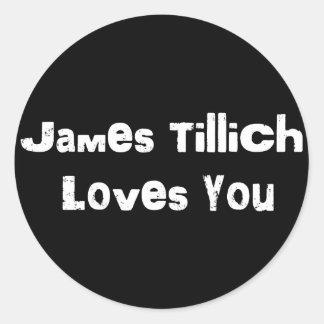 Amores de James Tillich usted Pegatina Redonda