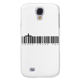 Amores de Jesús de la clave de barras usted Funda Para Galaxy S4