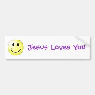 Amores de Jesús de la sonrisa usted pegatina para Etiqueta De Parachoque