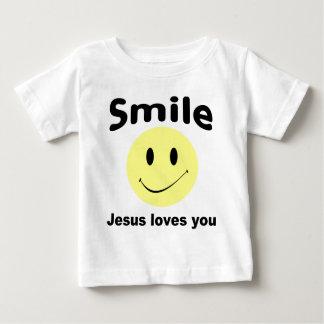 Amores de Jesús de la sonrisa usted ropa cristiana T-shirt