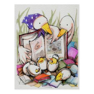 Amores de la familia del pato para leer la postal