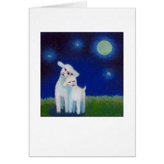 Amores de la Luna Llena - las ovejas de los corder Tarjeta De Felicitación