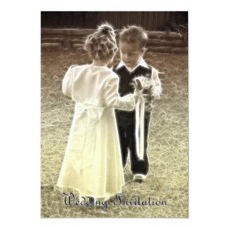 Amores de la niñez que casan la invitación